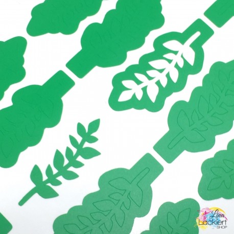 Blätterranke Nail Vinyls aus dem Lina Lackiert Shop