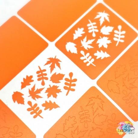 Herbstlaub Nail Vinyls aus dem Lina Lackiert Shop