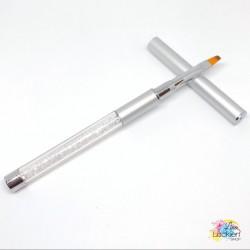 Nailart & Cleanup Pinsel silber (gerade)